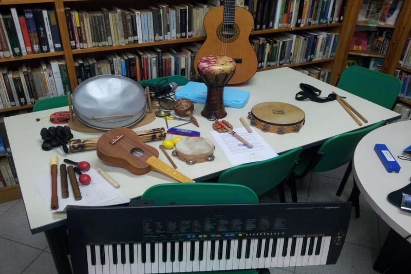 Interpretación musical con instrumentos
